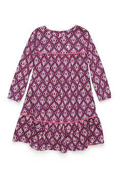 J. Khaki Mod Print Babydoll Dress Girls 4-6X