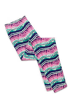 J Khaki™ Water Color Chevron Print Leggings Girls 7-16