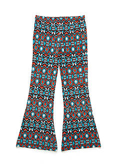J. Khaki Flare Geo-Print Pants Girls 7-16