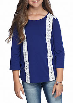 J. Khaki® Lace Trim Top Girls 7-16