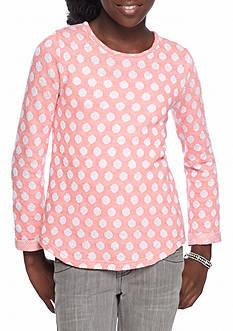 J. Khaki French Terry Dot Girls 6-17