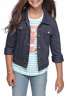J. Khaki Knit Denim Jacket Girls 7-16