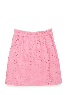 J. Khaki Eyelet Skirt Girls 7-16