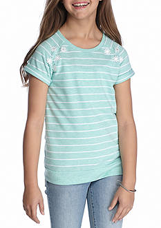 J. Khaki Stripe Top Girls 7-16