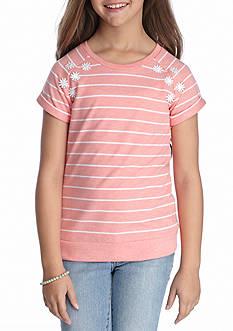 J. Khaki Stripe Top Girls 7-16
