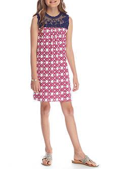 J. Khaki Geo Print Dress Girls 7-16