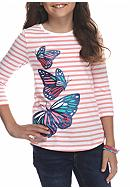 J. Khaki® Butterfly Tee Girls 7-16