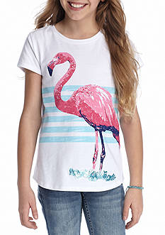 J. Khaki Flamingo Tee Girls 7-16