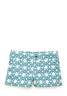 J. Khaki Geo Print Short Girls 7-16