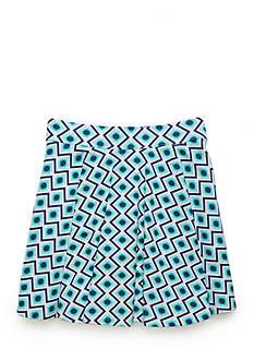 J. Khaki Geo Print Scooter Skirt Girls 7-16
