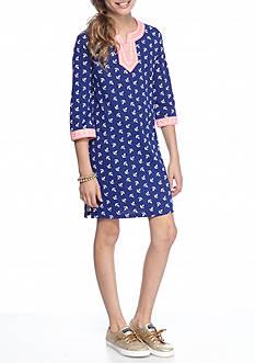 J. Khaki Anchor Tunic Dress Girls 7-16