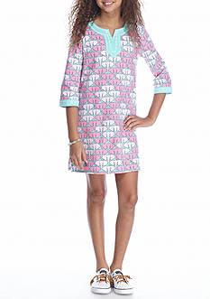 J. Khaki Elephant Tunic Dress Girls 7-16