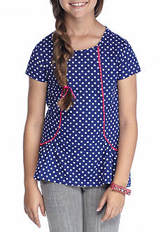 J. Khaki Polka Dot Tunic Girls 7-16