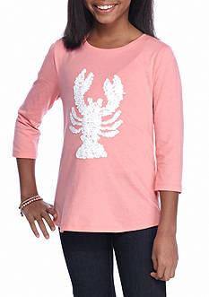 J. Khaki Lobster Tee Girls 7-16