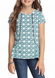 J. Khaki Girls Geo Knit Top Girls 7-16