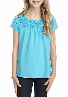 J. Khaki® Crochet Tee Girls 7-16