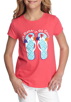 J. Khaki Flip Flop Tee Girls 7-16
