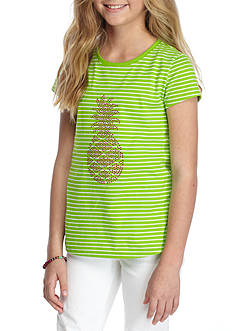 J. Khaki Pineapple Tee Girls 7-16