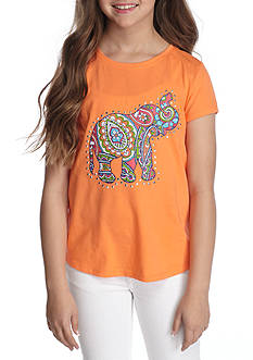J. Khaki Elephant Tee Girls 7-16
