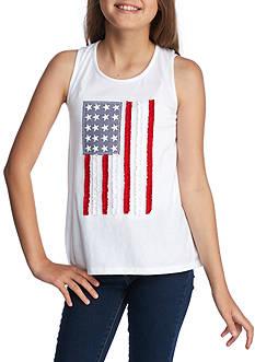 J. Khaki American Flag Tank Girls 7-16