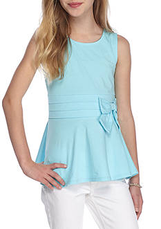 J. Khaki Peplum Bow Tank Top Girls 7-16