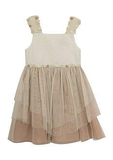 Rare Editions Lace Organza Social Dress Girls 4-6x