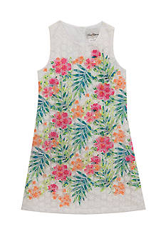 Rare Editions Floral Lace Shift Dress Girls 4-6x