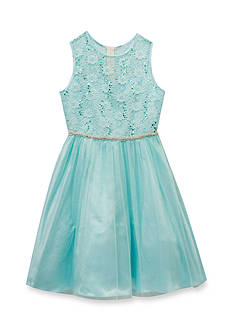 Rare Editions Lace To Mesh Social Dress Girls 4-6x