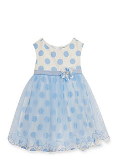 Rare Editions Polka Dot Organza Dress Girls 4-6x