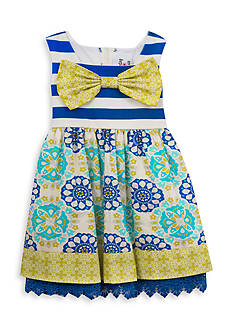 Rare Editions Mixed Media Dress Girls 4-6x