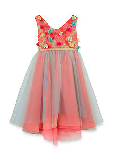Rare Editions Floral Bodice Ballerina Dress Girls 4-6x