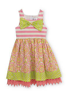 Rare Editions Multi Printed Dress Girls 4-6x