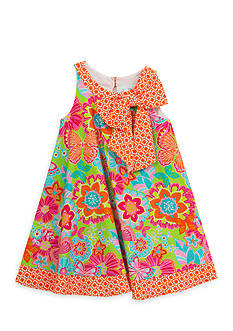 Rare Editions Floral Printed Swing Dress Girls 4-6x