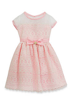 Rare Editions Lace Overlay Social Dress Girls 4-6x