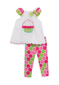 Rare Editions 2-Piece Cupcake Top And Capri Set Girls 4-6x