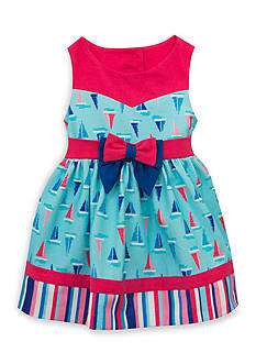 Rare Editions Sailboat Dress Girls 4-6X