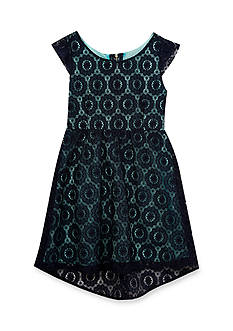 Rare Editions Lace High Low Dress Girls 4-6x