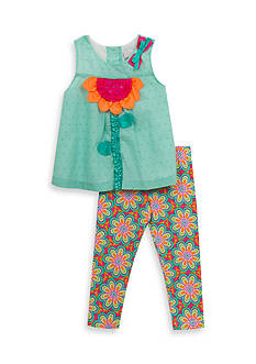 Rare Editions Floral Top And Legging Set Girls 4-6x
