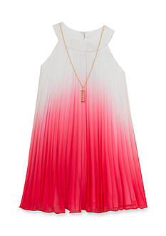 Rare Editions Chiffon Pleated Ombre Dress Girls 4-6x