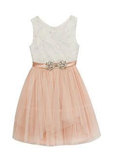 Rare Editions Sleeveless Ivory Blush Cinderella Dress Girls 7-16