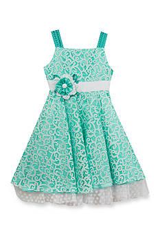Rare Editions Chiffon Lace Dress Girls 7-16