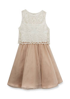 Rare Editions Lace Popover Dress Girls 7-16