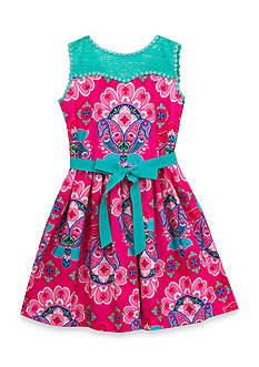 Rare Editions Paisley Printed Dress Girls 7-16
