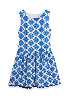 Rare Editions Damask Printed Knit Dress Girls 7-16