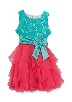 Rare Editions Sleeveless Cascade Dress Girls 7-16