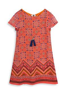 Rare Editions Multi Print Shift Dress Girls 7-16