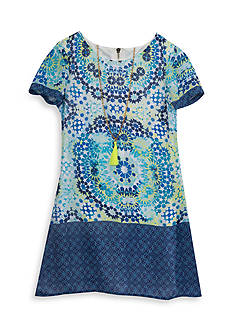 Rare Editions Multi Print Dress Girls 7-16