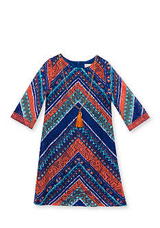 Rare Editions Chevron Lace Overlay Dress Girls 4-6x