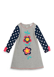 Rare Editions Flower and Dot Dress Girls 4-6x