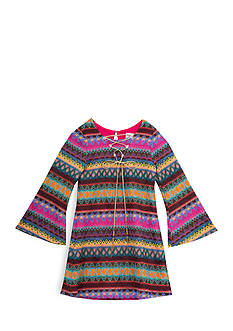 Rare Editions Bell Sleeve Multi-Print Dress Girls 4-6x